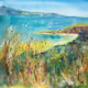 Beach Painting - Grasses and bay